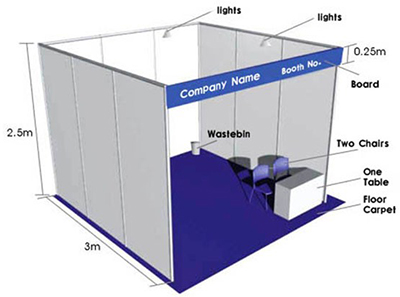 Exhibition Shell Scheme For Sale : Standard portable aluminum exhibition stand price shanghai chleh
