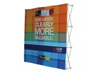 10' Pop Up Trade Show Backdrop Display Wall with Spotlights