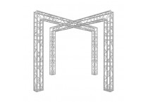 10' x 10' Aluminium X Shape Truss Design