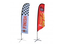 Promotion Display Outdoor Advertising Flying Feather Flags