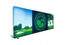 20' x 8' Backlit Trade Show Backdrop with Custom Graphics