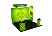 Aluminum Full Color Printing Advertising Portable Exhibition Stand 10x10