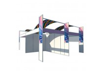 Custom Design Aluminum Shell Scheme Exhibition Stand