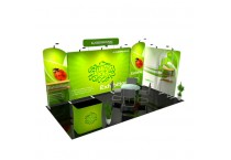 Portable Fabric Trade Show Booth Exhibit Displays 10x20