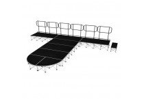 T Shape Portable Folding Stage Platform Aluminum