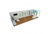 10' x 30' Fabric Modular Maxima Customized Exhibition Booth